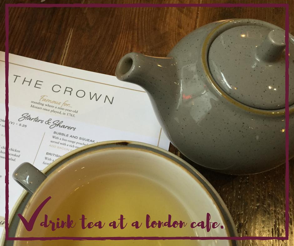 drink tea in london :: life list :: KarlaMae.com